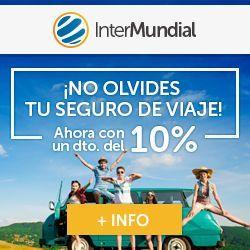 Recibe un 10% de descuento al contratar tu seguro de viaje con InterMundial y Viajero Crónico