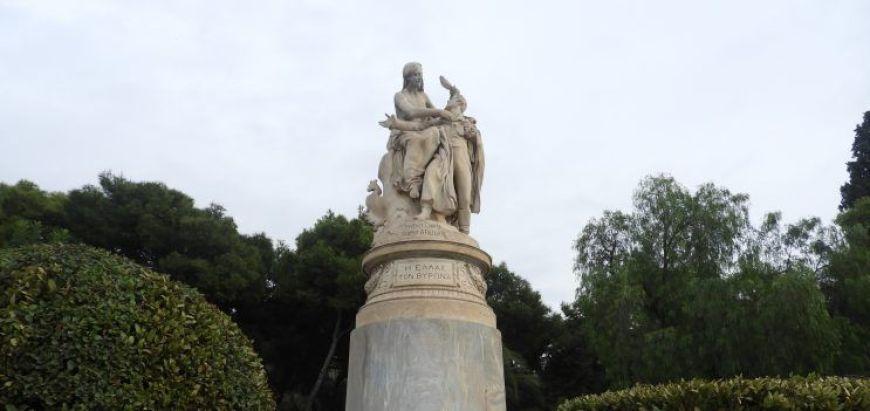 La estatua de Lord Byron es una de las curiosidades de Atenas que más llama la atención
