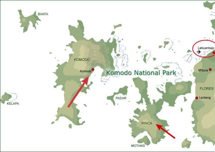 Mapa Parque nacional Komodo