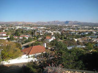 Vistas de Windhoek desde una colina