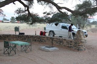 camping en el Namib