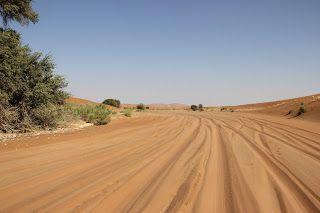 La carretera hasta Deadvlei, visita al desierto de Namib