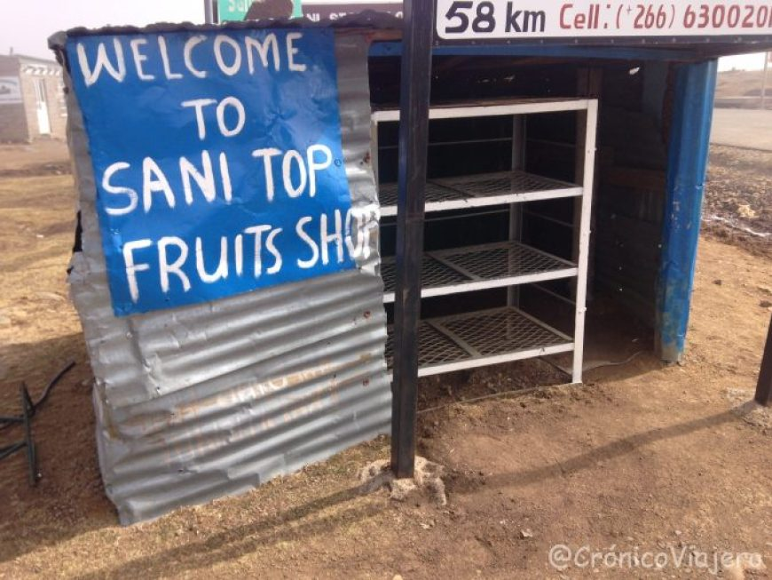 Puesto frutas Sani Pass, Lesotho