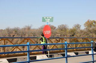 Frontera Cataratas Victoria Zambia y Zimbabwe