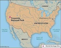 Mapa Yosemite