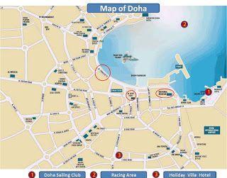 Mapa Doha