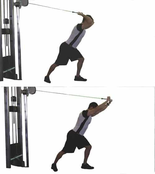 Extension triceps polea barra