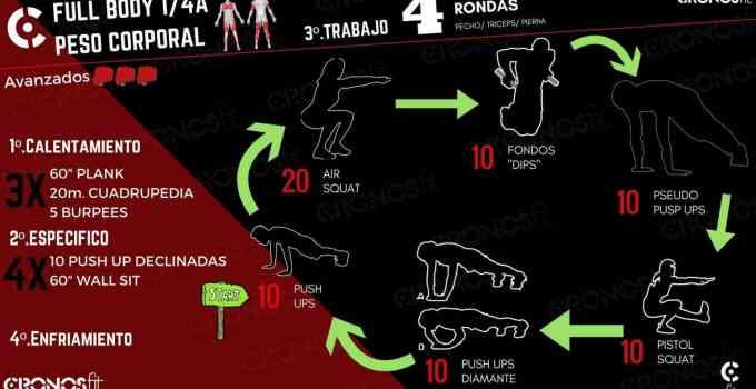 Día 1: Pecho, Pierna, Tríceps | Entrenamiento Peso Corporal en casa