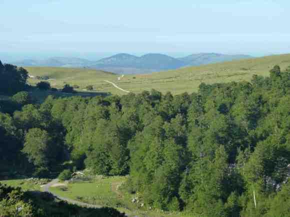 Tierras altas entre Navarra y Francia, en el País Vasco: los puertos de Azpegi y Organbidé