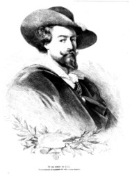 P.P. Rubens, en un grabado de 1877
