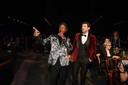 GENEVA, SWITZERLAND - JANUARY 16: Aloe Blacc and Pierfrancesco Favino attend the IWC Schaffhausen Gala celebrating the Maisons 150th anniversary and the launch of its Jubilee Collection at the Salon International de la Haute Horlogerie (SIHH) on January 16, 2018 in Geneva, Switzerland. #IWC150 on January 16, 2018 in Geneva, Switzerland. (Photo by Harold Cunningham/Getty Images for IWC)