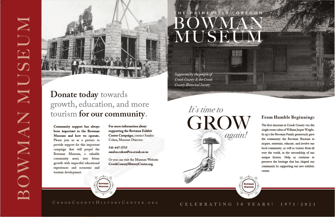Donate today towards growth, education and local history.