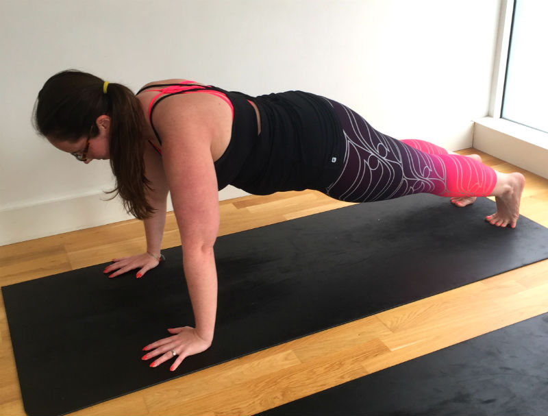plank pose untion station yoga eileen cotter wright