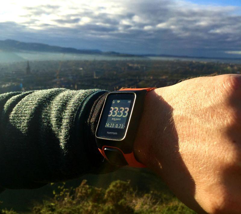 TomTom Adventurer fitness watch edinburgh scotland eileen cotter wright