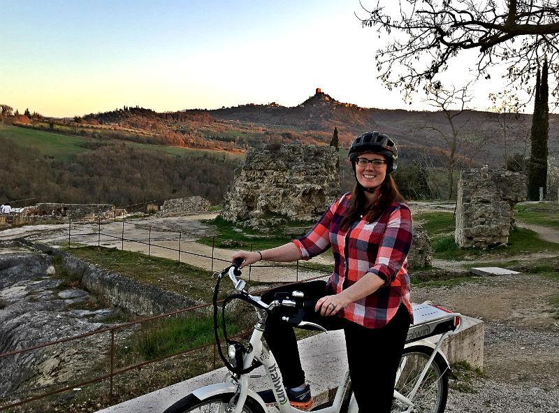 biking adler thermae eileen cotter wright sunset