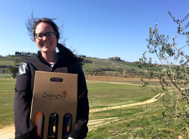 sasso di sole box of wine tuscany