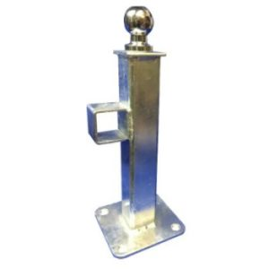 Crookstoppers floor mounted hitch lock security post.