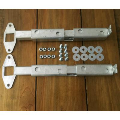 Crookstoppers pair of garage door bolts.