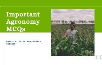 Important Agronomy MCQs