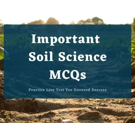 Soil Science Important MCQs