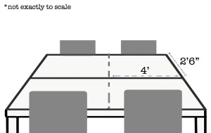 Crop table seating