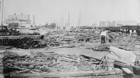 Aftermath of Galveston, Texas hurricane of 1900. (Credit: Library of Congress)