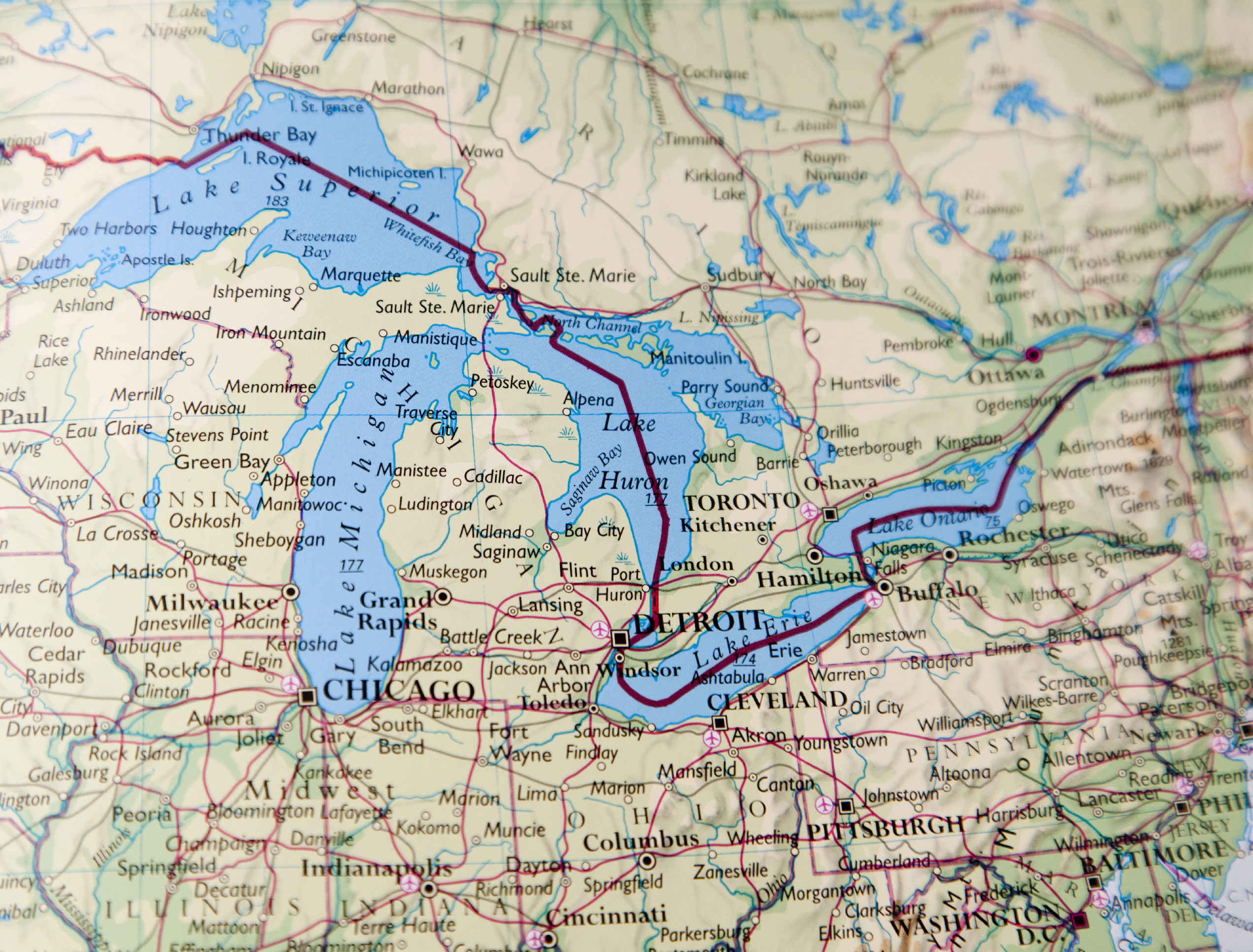 Are The Great Lakes Connected