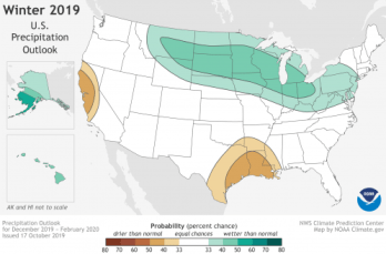 NOAA Climate Prediction Center Precipitation Outlook