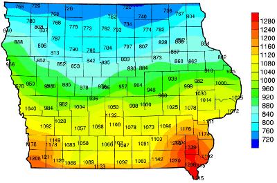 Iowa Frost Depth Map - Modern Home Revolution
