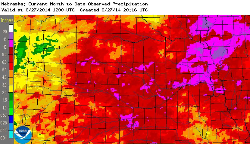 June 2014 precipitation total
