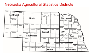 Nebraska Agricultural Statistics Districts
