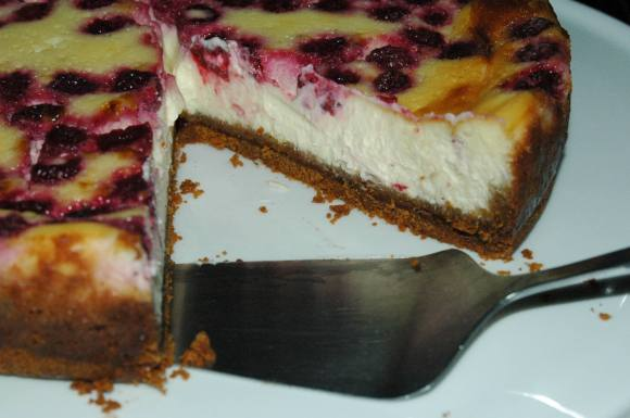 Cheese cake aux framboises - juillet 2009 134