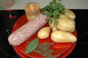 Saucisson de Lyon pistaché en salade tiède - DSC_3224_734