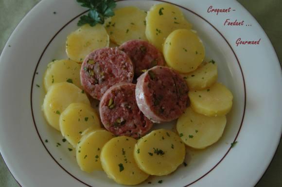 Saucisson de Lyon pistaché en salade tiède - DSC_3237_745