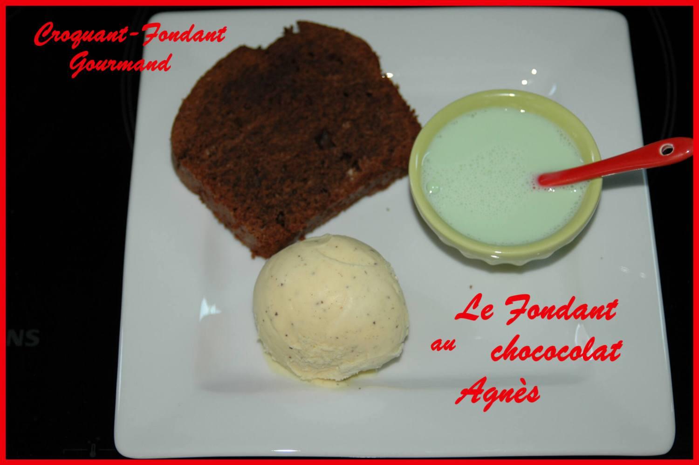 Le fondant au chocolat Agnès assiette aout 2008 095