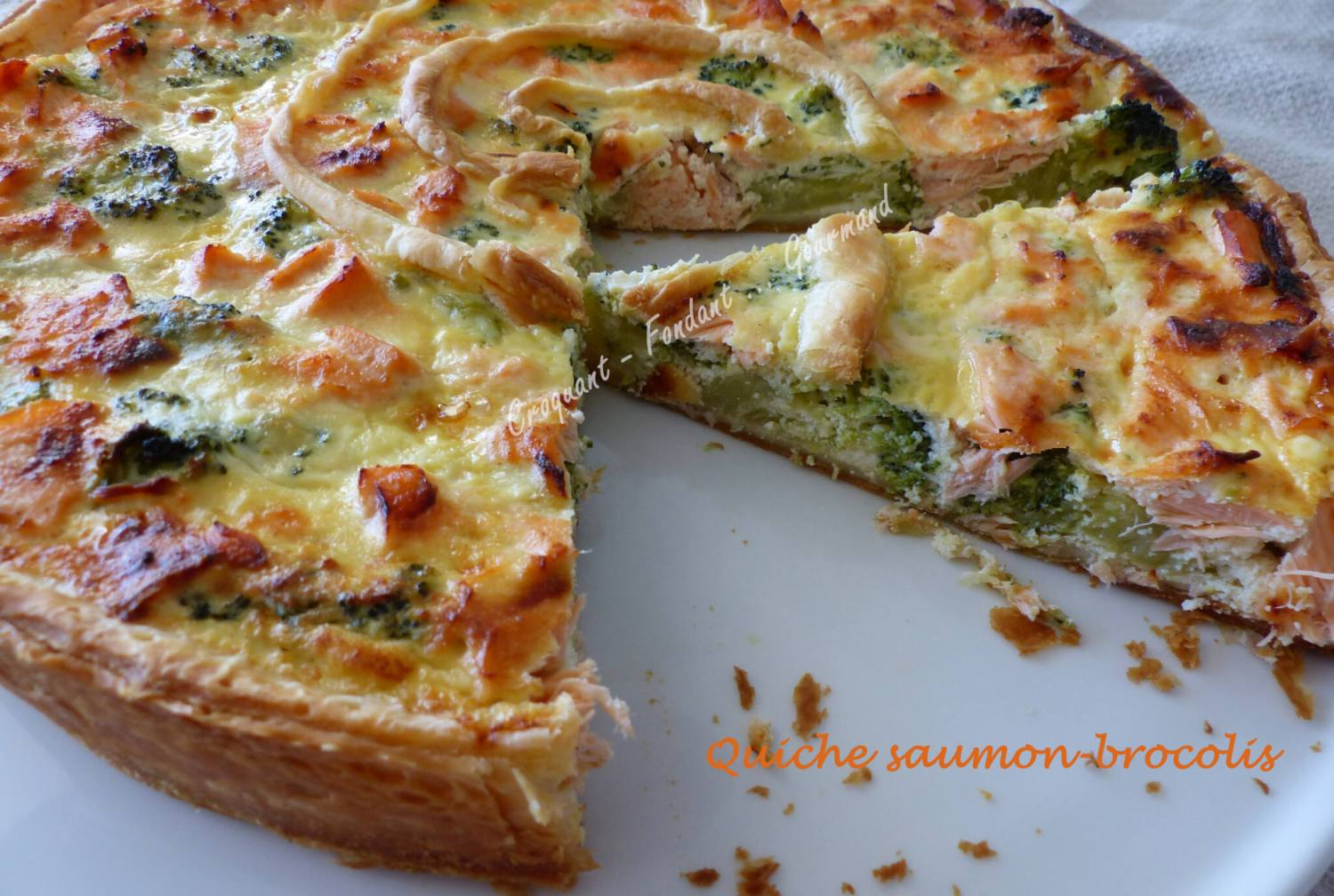Quiche saumon-brocolis P1010587