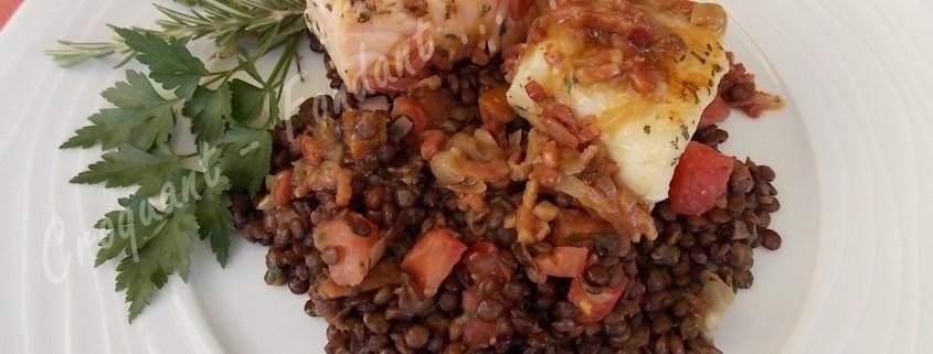 Salade tiède de lentilles et son duo de poissons DSCN7471_27615