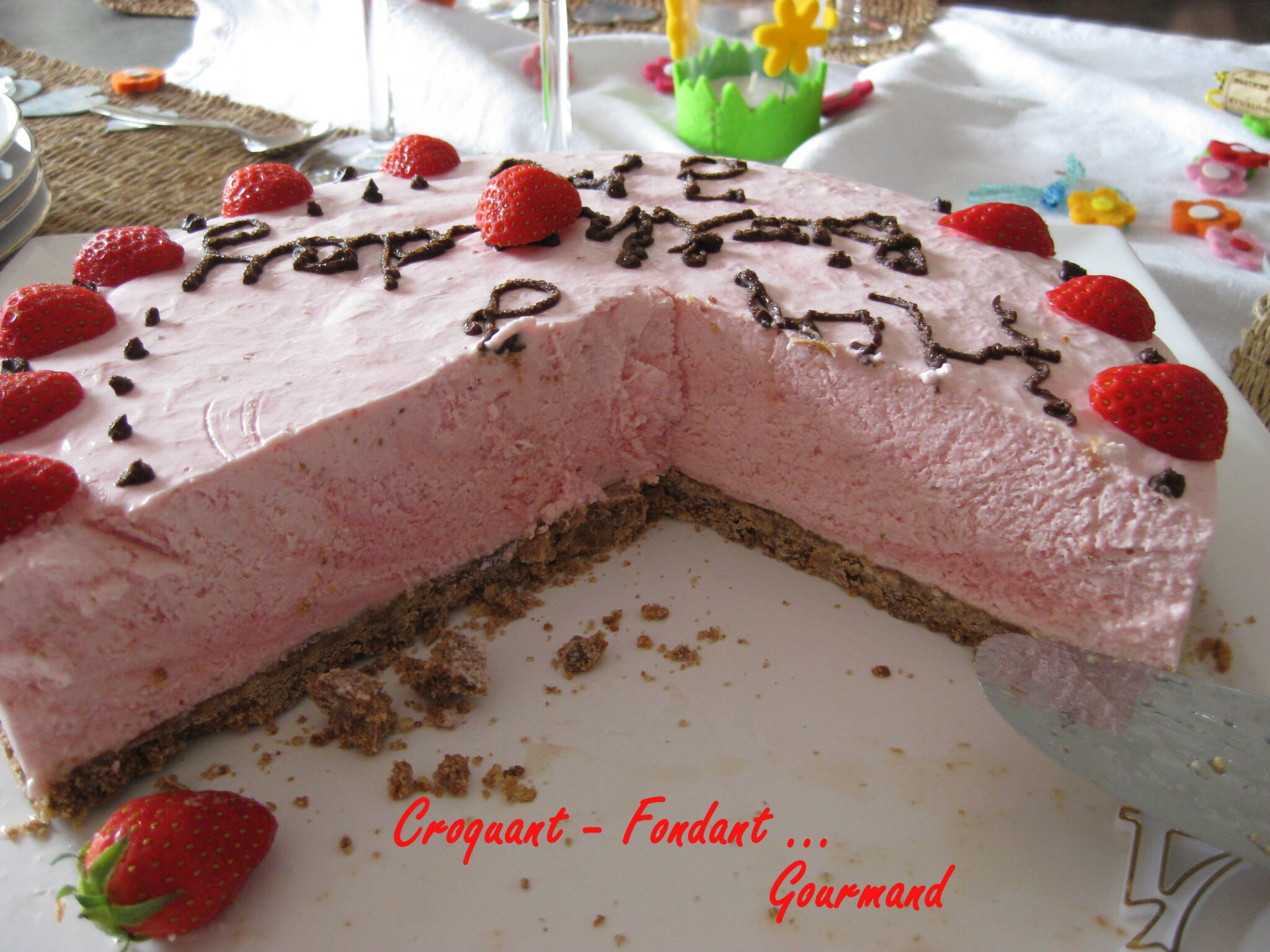 Cheesecake fraise - Croquant Fondant Gourmand