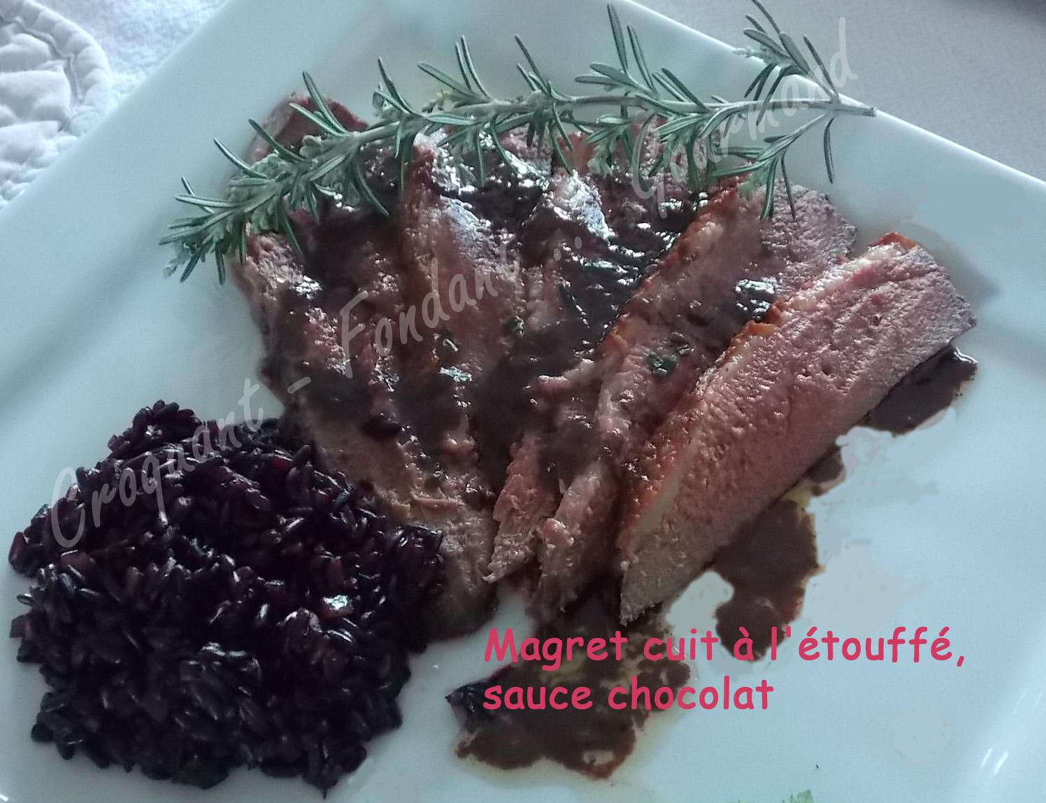 Magret cuit à l'étouffé, sauce chocolat DSCN1659_31283