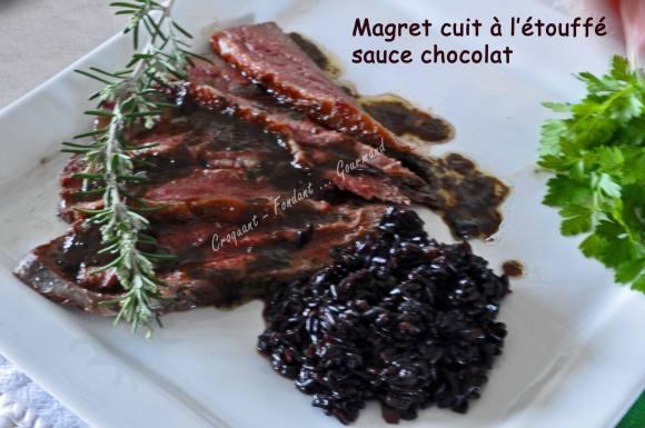 Magret cuit à l'étouffé, sauce chocolat _DSC0425_6695