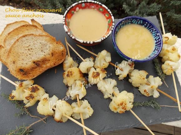 Chou-fleur croquant sauce anchois DSCN1317