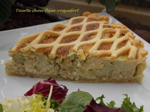 Tourte chou-fleur-roquefort DSCN1208