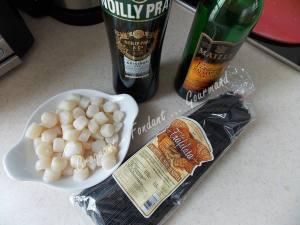 Pâtes noires aux Saint-Jacques DSCN2233