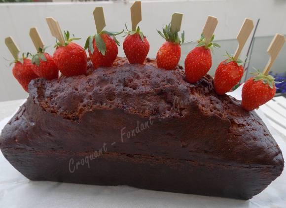 Cake vanille-chocolat blanc et sa brochette de fraise DSCN4964