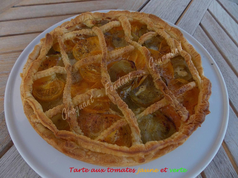 Tarte aux tomates jaune et verte DSCN5434