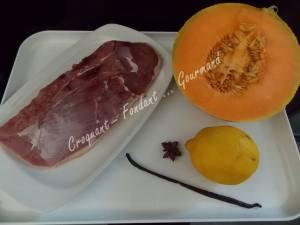 Filet de canard et melon épicés DSCN5728