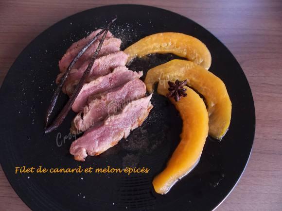Filet de canard et melon épicés DSCN5737
