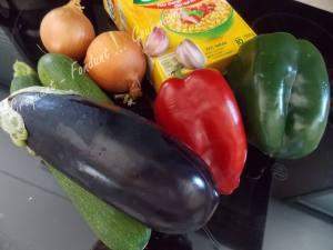 Salade de blé au poulet et légumes confits DSCN5086