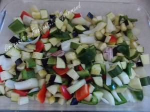 Salade de blé au poulet et légumes confits DSCN5089