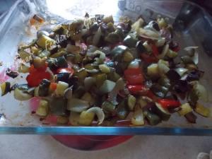 Salade de blé au poulet et légumes confits DSCN5099